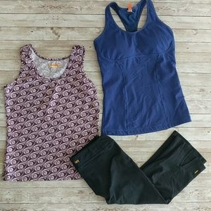 LUCY set of (3) active wear pieces tanks and capri